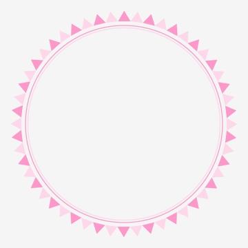 quadro de bandeiras de círculo rosa bonito para ilustração em vetor colorido festa de aniversário para cartões de aniversário ou etiquetas , Evento, Magia, Surpresa Imagem de fundo