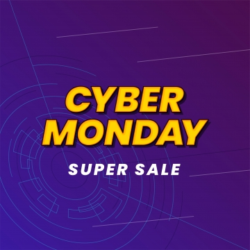 cyber thứ hai siêu bán poster nền phương tiện truyền thông xã hội mẫu vector minh họa hiệu ứng hiện đại typography trên thiết kế banner minh họa vector không gian , Mạng Lưới, Thứ 2., Siêu Ảnh nền