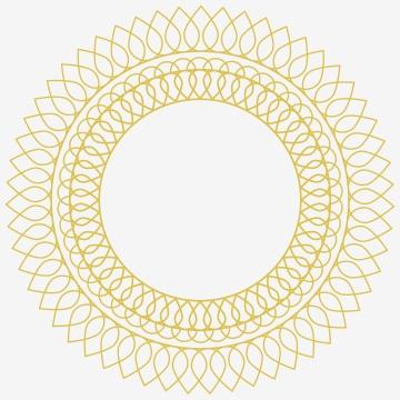 डिजाइन टेम्पलेट गोल्डन रूपरेखा पुष्प सीमा सोने चमकदार चमकदार विंटेज फ्रेम के लिए सजावटी सर्कल लाइन कला फ्रेम , आधुनिक, शादी, आमंत्रित पृष्ठभूमि छवि