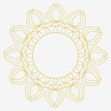 डिजाइन टेम्पलेट के लिए सजावटी गोल लाइन आर्ट फ्रेम गोल्डन आउटलाइन फ्लोरल बॉर्डर गोल्ड चमकदार चमकदार विंटेज फ्रेम , आधुनिक, शादी, आमंत्रित पृष्ठभूमि छवि