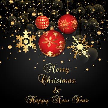 गोल्डन बॉल्स के साथ क्रिसमस की पृष्ठभूमि , वर्ष, तीर, बर्फ पृष्ठभूमि छवि