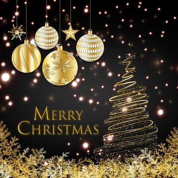 빛나는 황금 크리스마스 트리 , 년, 화살, 눈 배경 이미지