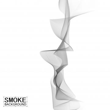 ग्रे फ्लाइंग सिगरेट का धुआँ सफेद पर अलग थलग , धुआं, भाप, वेक्टर पृष्ठभूमि छवि