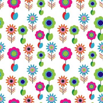फूल और पत्ती सीमलेस पैटर्न वेक्टर के साथ रंगीन फूल रचना , सार, कला, पृष्ठभूमि पृष्ठभूमि छवि