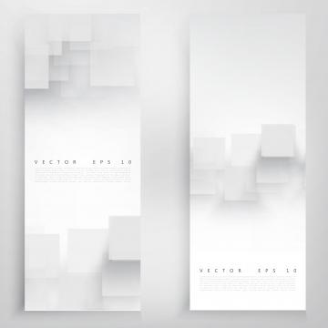 पारभासी वर्गों के साथ सफेद ऊर्ध्वाधर बैनर , सार, पृष्ठभूमि, डिजाइन पृष्ठभूमि छवि