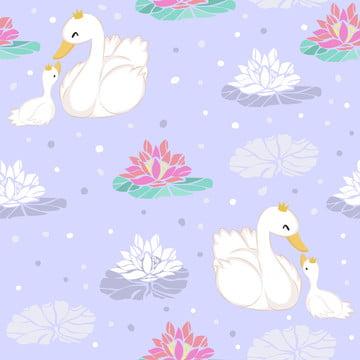 원활한 패턴에 귀여운 거위 그림 , 배경, 초대, 아기가 목욕한 배경 이미지