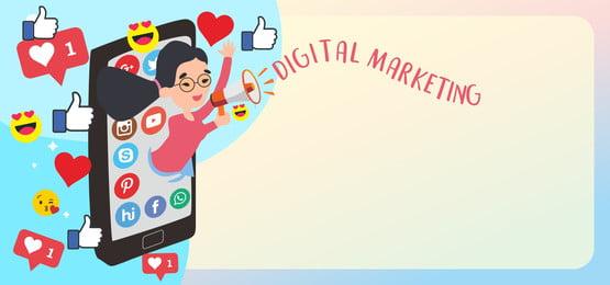 सोशल मीडिया के साथ डिजिटल मार्केटिंग, डिजिटल विपणन, विपणन, डिजिटल पृष्ठभूमि छवि