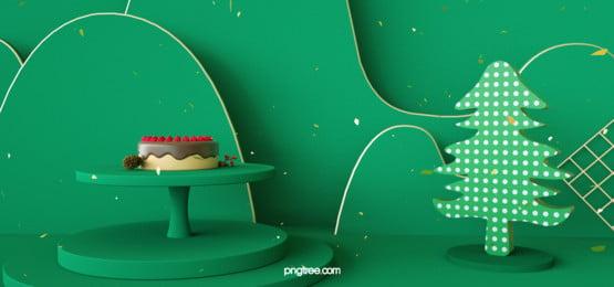 green christmas hàng hóa hiển thị cảnh giáng sinh cây xanh nền, Màu Xanh, Christmas, Nền Ảnh nền
