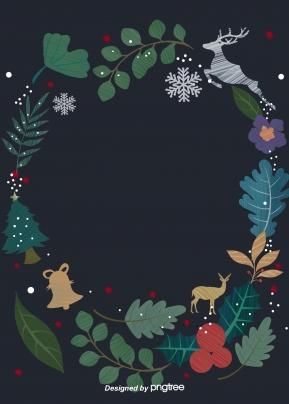 크리스마스 벨 트리 과일 사슴 잎 꽃 , Christmas, 방울방울, 나무 배경 이미지