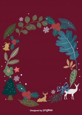크리스마스 잎 과일 사슴 눈송이 리본 벨 , Christmas, 잎, 과일 배경 이미지