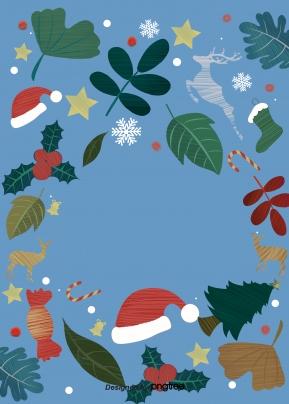 크리스마스 잎 스타 모자 양말 눈송이 사슴 , Christmas, 명절, 잎 배경 이미지