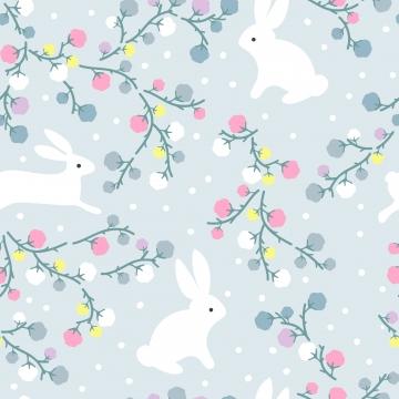 귀여운 토끼와 원활한 패턴에 꽃 , 배경, 초대, 아기가 목욕한 배경 이미지