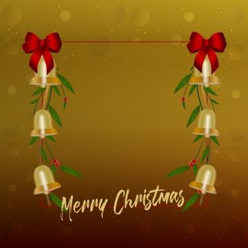 황금 크리스마스 종소리 배경 , 크리스마스, 김, 황금 배경 배경 이미지