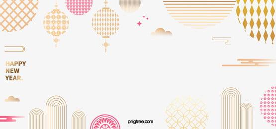 황금 우아한 전통 새해 배경, 새해 배경, 전통적 배경, 꽃무늬 배경 이미지