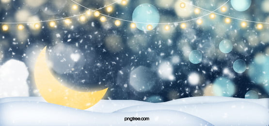 moon decoration winter snow day background, Winter, Background, Fantasy Background image