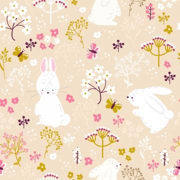 नरम गुलाबी बनी और पुष्प सहज पैटर्न , पृष्ठभूमि, निमंत्रण, बेबी शॉवर पृष्ठभूमि छवि
