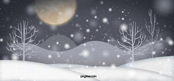 winter dreamy moon background, Winter, Background, Fantasy Background image