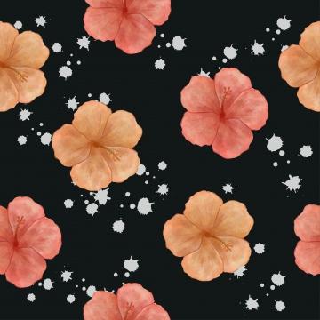 히 비 스커 스 수채화 스타일으로 완벽 한 패턴 , 반복, 잎, 식물 배경 이미지
