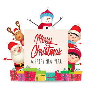 feliz natal e feliz ano novo feliz natal papai noel e veado engraçado , Ilustração, Celebração, Natal Imagem de fundo