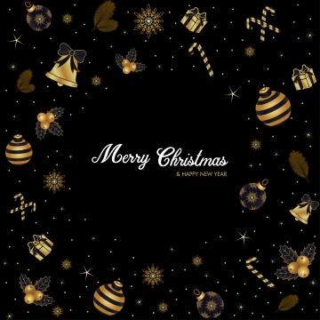 聖誕快樂豪華金色背景金黑色季節性壁紙 , 背景, 球, 弓 背景圖片