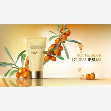 沙棘護膚海報與油滴 , 油, 美容的, 橄欖樹 背景圖片