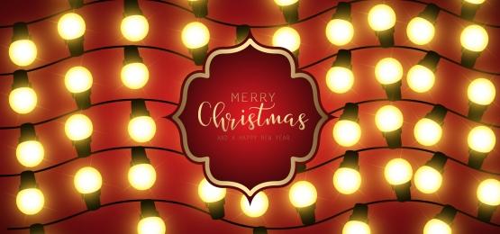 क्रिसमस रोशनी यथार्थवादी पृष्ठभूमि डिजाइन चमक रोशनी क्रिसमस छुट्टी ग्रीटिंग कार्ड डिजाइन माला सजावट के लिए, उत्सव, सजावट, उज्ज्वल पृष्ठभूमि छवि