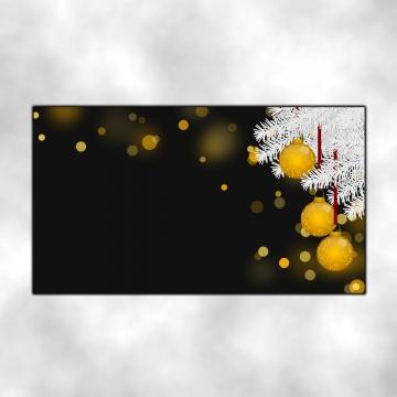 bola perhiasan emas dan pain putih di latar belakang gelap dan glitter pada masa christmas , Krismas, Latar Belakang, Tema imej latar belakang