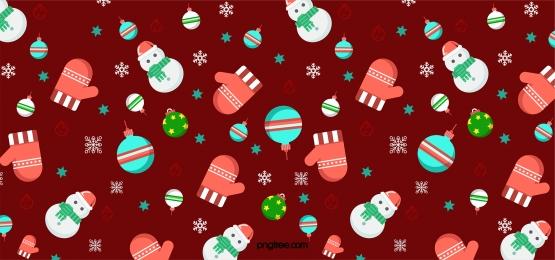 簡約紅綠色聖誕雪人聖誕鈴pattern背景, 聖誕, Pattern, 雪人 背景圖片