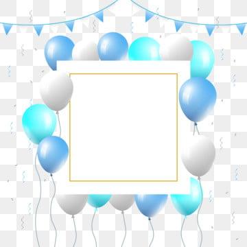 शादी के बच्चे के जन्मदिन की सालगिरह की पार्टी के लिए ब्लू गुब्बारे फ्रेम , बच्चों, बच्चों, फैशनेबल पृष्ठभूमि छवि