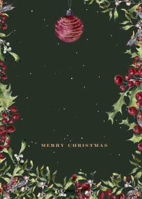 크리스마스 손으로 그린 홀리 배경 , Christmas, 이스트 시안, 손풍격 배경 이미지