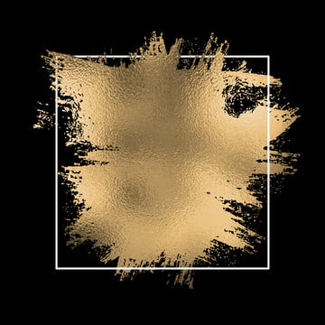 एक काले रंग की पृष्ठभूमि पर सफेद फ्रेम के साथ सोने की पन्नी के छींटे , वेक्टर, पृष्ठभूमि, लक्जरी पृष्ठभूमि छवि