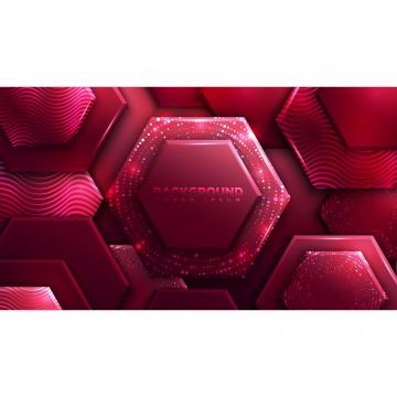 fond de luxe abstrait polygone rouge avec pat rougeoyante demi teinte , Site Web, Forme, Contexte Image d'arrière-plan