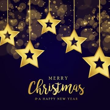 별 아름 다운 크리스마스 황금 번개 배경 , 크리스마스, 메리, 배경 배경 이미지