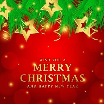 별과 잎과 아름 다운 크리스마스 빨간색 배경 , 크리스마스, 메리, 배경 배경 이미지