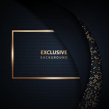 bingkai bingkai biru gelap mewah membentuk latar belakang dengan hiasan unsur glitter emas , Mewah, Elegan, Premium imej latar belakang