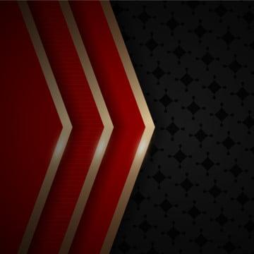 豪華的紅色和黑色紙形狀與金色元素裝飾背景 , 奢侈, 優雅的, 溢價 背景圖片