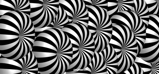 visual 3d optical illusion stereo circular stripes black and white