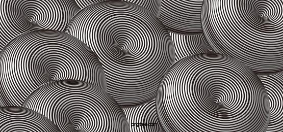 visual black and white circular illusion stereo stripes 3d