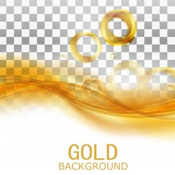 गोल्डन धातु के छल्ले तरल लहर पारदर्शी बैनर , सोने, वेक्टर, धातु पृष्ठभूमि छवि