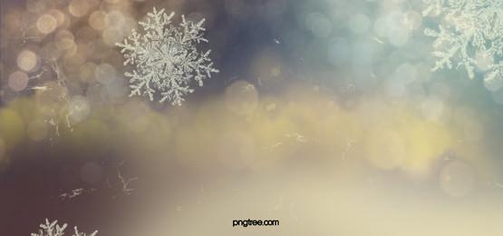 fundo de cartaz de floco de neve branco fantasia, Fantasia De Fundo, Halo De Floco De Neve, Escultura De Gelo Imagem de fundo