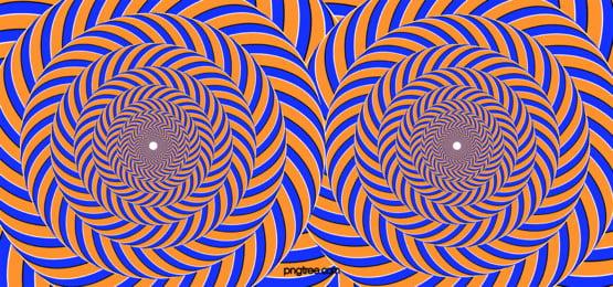 yellow blue transform ring stereo 3d visual stripes