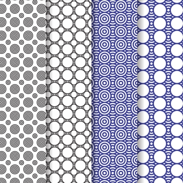 set pola hitam biru moden , Corak, Latar Belakang, Vektor imej latar belakang