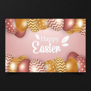 गुलाबी पृष्ठभूमि पर गुलाबी और सोने के अंडे की अवधारणा के साथ खुश ईस्टर , ईस्टर, वसंत, अंडे पृष्ठभूमि छवि