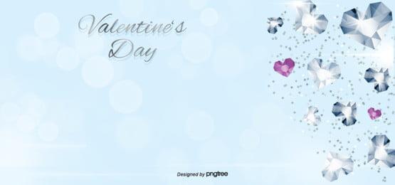 valentine diamond gold dust blue background