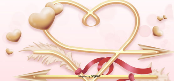 valentines day love arrow cross heart arrow background