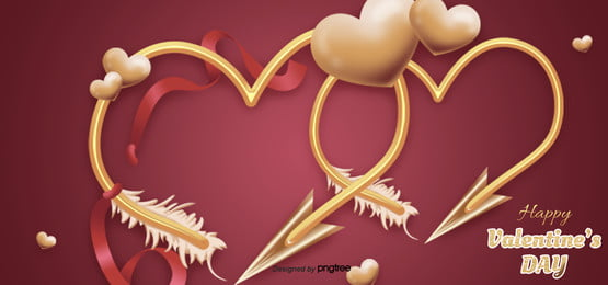 valentines day love arrow red background