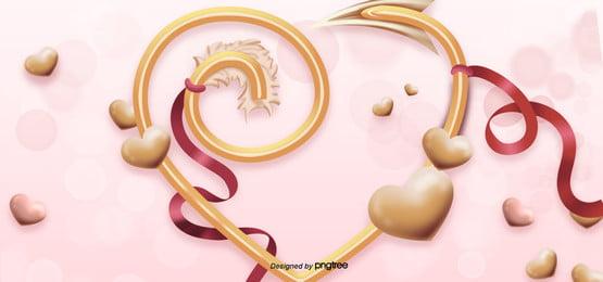valentines day love arrow pink background