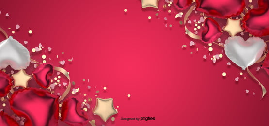 romantic valentines day love balloon red background