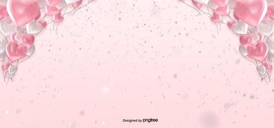 valentines day love balloon red pink background
