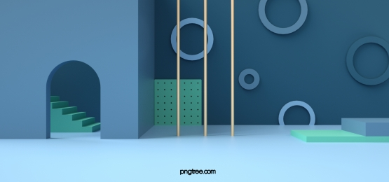 blue geometric figures background